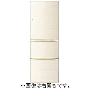 東芝 3ドア冷蔵庫(330L・左開き) GR-M33SXVL-ZC ラピスアイボリー(標準設置無料)