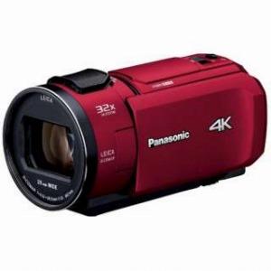 パナソニック SD対応 64GBメモリー内蔵4Kビデオカメラ HC-VX1M レッド