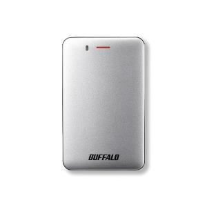 バッファロー ポータブルSSD 480GB[USB 3.1・Mac/Win] 耐振動・耐衝撃 高速・薄型 SSD-PM480U3A-S シルバー
