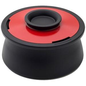 穴織カーボン ≪IH対応≫ カーボン製両手鍋 「POT VOL.」(2.1L) VO001IR イタリアンレッド