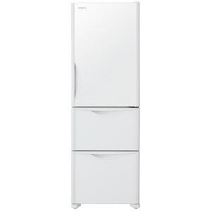 日立 3ドア冷蔵庫(375L・右開きタイプ) RS38JV-XW クリスタルホワイト(標準設置無料)