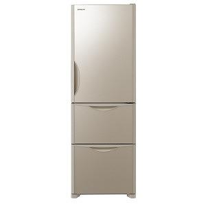日立 3ドア冷蔵庫(375L・右開きタイプ) RS38JV-XN クリスタルシャンパン(標準設置無料)