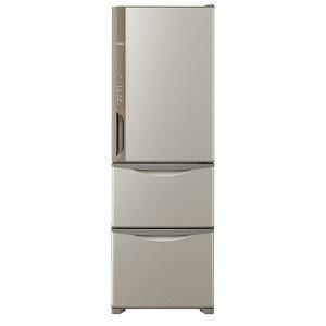 日立 3ドア冷蔵庫(375L・右開きタイプ) R-K38JV ライトブラウン(標準設置無料)