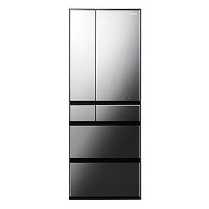 パナソニック 6ドア冷蔵庫(600L) NR-F604WPX-X オブシディアンミラー(標準設置無料)