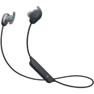 ソニー ブルートゥースイヤホン カナル型 WI-SP600N BM ブラック [防滴 /Bluetooth /ノイズキャンセル対応](送料無料)