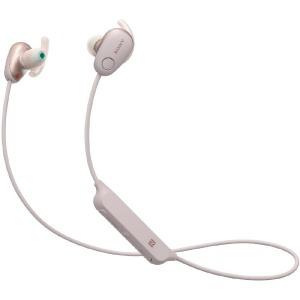 ソニー ブルートゥースイヤホン カナル型 WI-SP600N PM ピンク [防滴 /Bluetooth /ノイズキャンセル対応](送料無料)
