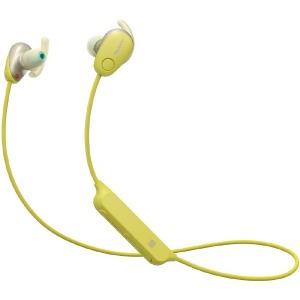 ソニー ブルートゥースイヤホン カナル型 WI-SP600N YM イエロー [防滴 /Bluetooth /ノイズキャンセル対応]