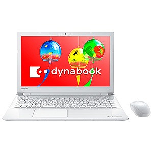 東芝 15.6型ノートPC dynabook T45/GW PT45GWP-SEA リュクスホワイト