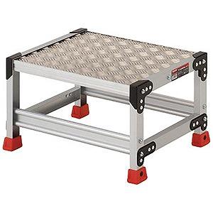 トラスコ中山 作業用踏台 アルミ製・縞板タイプ 天板寸法500X400XH300 TSFC153