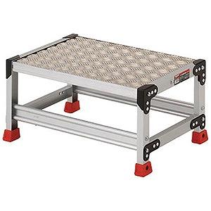 トラスコ中山 作業用踏台 アルミ製・縞板タイプ 天板寸法600X400XH300 TSFC163