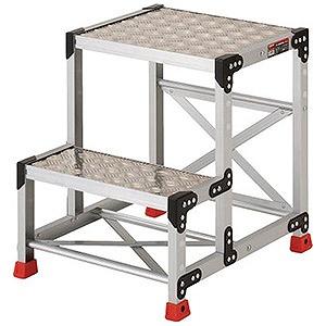トラスコ中山 作業用踏台 アルミ製・縞板タイプ 天板寸法500X400XH600 TSFC256
