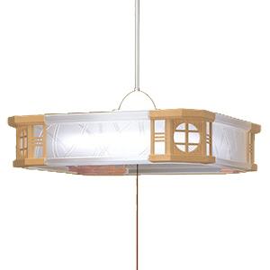瀧住電機工業 リモコン付LED和風ペンダントライト (~8畳) RVR80081 調光 (昼光色)(送料無料)