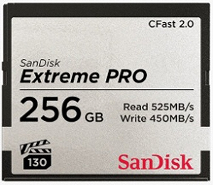 サンディスク 256GB CFast2.0 カード SanDisk Extreme PRO SDCFSP-256G-J46D [256GB]
