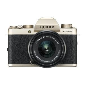 富士フィルム 「レンズキット」(シャンパンゴールド/ミラーレス一眼カメラ) FX-T100LKG(送料無料)
