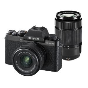 富士フイルム 「ダブルズームレンズキット」(ブラック/ミラーレス一眼カメラ) FX-T100WZLKB