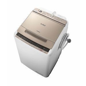 日立 全自動洗濯機 (洗濯8.0kg) BW-V80C シャンパン(標準設置無料)