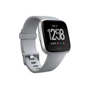 Fitbit フィットビット Versa Gray/Silver Aluminium FB505SRGY-CJK グレー/シルバーアルミニウム L/Sサイズ(送料無料)