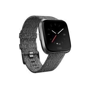 Fitbit フィットビット Versaスペシャルエディション Chacoal Woven FB505BKGY-CJK チャコール/グラファイトアルミニウム L/Sサイズ(送料無料)