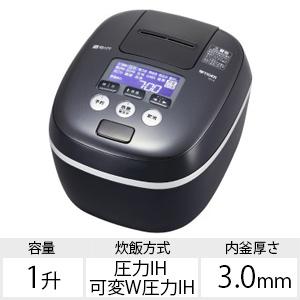 タイガー 圧力IH炊飯ジャー 「炊きたて」(1升) JPC-A182KE アーバンブラック
