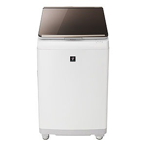 シャープ 縦型洗濯乾燥機 (洗濯10.0kg/乾燥5.0kg) ES-PT10C-T ブラウン(標準設置無料)