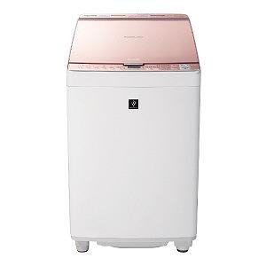 シャープ タテ型洗濯乾燥機 (洗濯8.0kg/乾燥4.5kg) ES-PX8C-P ピンク(標準設置無料)