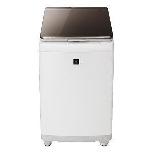 シャープ タテ型洗濯乾燥機 (洗濯10.0kg/乾燥5.0kg) ES-PU10C-T ブラウン(標準設置無料)