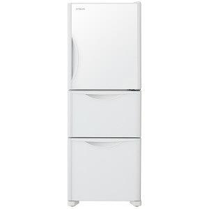 日立 3ドア冷蔵庫(265L・右開きタイプ) R-S27JV-XW クリスタルホワイト(標準設置無料)
