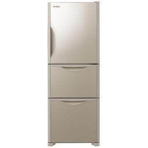 日立 3ドア冷蔵庫(265L・右開きタイプ) R-S27JV-XN クリスタルシャンパン (標準設置無料)