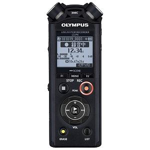 オリンパス リニアPCMレコーダー LS-P4BLK ブラック [Bluetooth対応 /8GB /ハイレゾ対応](送料無料)