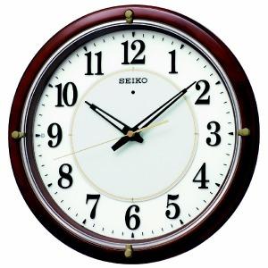 セイコー 電波自動点灯掛け時計 「ファインライトNEO」 KX240B 茶