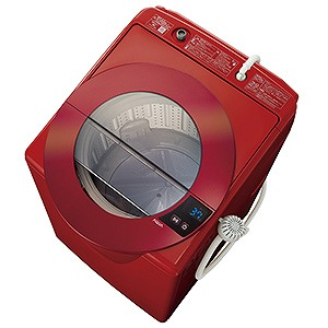 AQUA 全自動洗濯機 (洗濯8.0kg) AQWLV80G-R シャイニーレッド(標準設置無料)