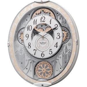 リズム時計工業 電波からくり時計 スモールワールドノエルNS 8MN407RH03