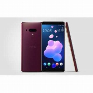 HTC nanoSIM SIMフリースマートフォン HTC U12+ フレームレッド