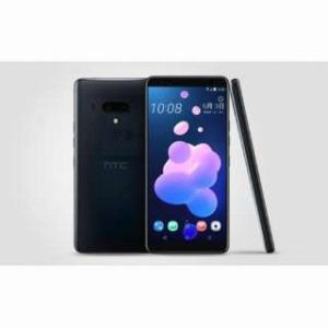HTC nanoSIM SIMフリースマートフォン HTC U12+ トランスルーセントブルー