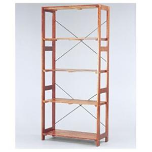 アイリスオーヤマ ウッディラック(高さ179×幅83.5×奥行35cm) WOR-8318 ブラウン