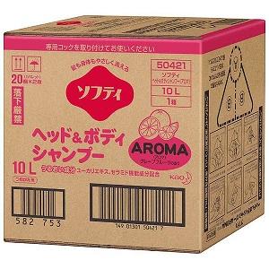 花王 ソフティ ヘッド&ボディシャンプー AROMA(アロマ) 10L バッグインボックスタイ