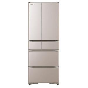 日立 6ドア冷蔵庫(475L・フレンチドアタイプ) R-XG48J-XN クリスタルシャンパン(標準設置無料)