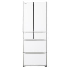 日立 6ドア冷蔵庫(505L・フレンチドアタイプ) R-XG51J-XW クリスタルホワイト(標準設置無料)