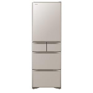 日立 5ドア冷蔵庫(401L・右開き) R-S40J-XN クリスタルシャンパン(標準設置無料)