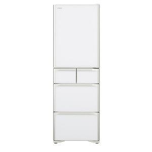日立 5ドア冷蔵庫(401L・右開き) R-S40J-XW クリスタルホワイト(標準設置無料)