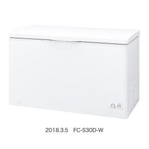 シャープ 冷凍庫(300L・上開き) FC-S30D-W ホワイト系(標準設置無料)