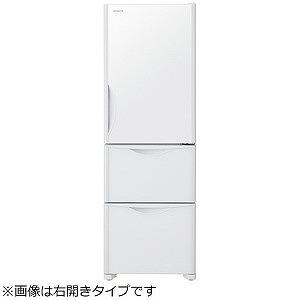 日立 3ドア冷蔵庫(375L・左開き) RS38JVL-XW クリスタルホワイト(標準設置無料)