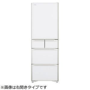 日立 5ドア冷蔵庫(501L・左開き) R-S50JL-XW クリスタルホワイト(標準設置無料)