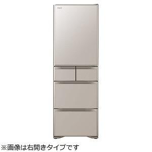 日立 5ドア冷蔵庫 [左開きタイプ/401L] R-S40JL-XN クリスタルシャンパン(標準設置無料)