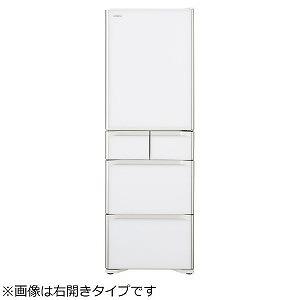 日立 5ドア冷蔵庫(401L・左開き) R-S40JL-XW クリスタルホワイト (標準設置無料)