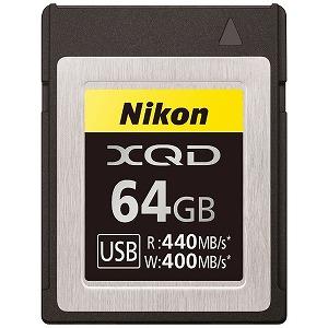 ニコン XQDメモリーカード64GB MC-XQ64G