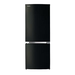 東芝 2ドア冷蔵庫(153L・右開き) GR-P15BS-K メタリックブラック(標準設置無料)