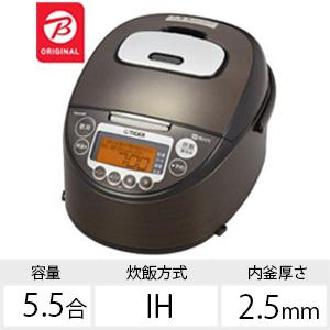 タイガー IH炊飯ジャー JKT-BK10KW ウッドブラック(送料無料)