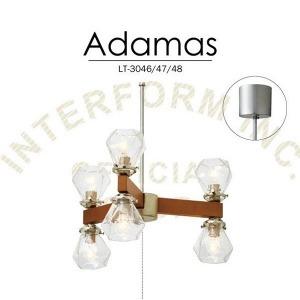 ペンダントライト Adamas (E17/60W クリアミニクリプトン球×6付) LT-3046