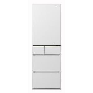 パナソニック 5ドア冷蔵庫(406L・右開き) NR-E414GV-W スノーホワイト(標準設置無料)